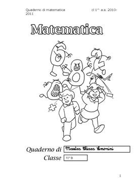 Quaderni Di Matematica Classe Prima Maestrasabry